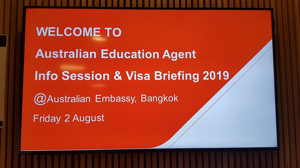AUSTRALIAN EDUCATION AGENT INFO SESSION AND VISA BRIEFING 2019